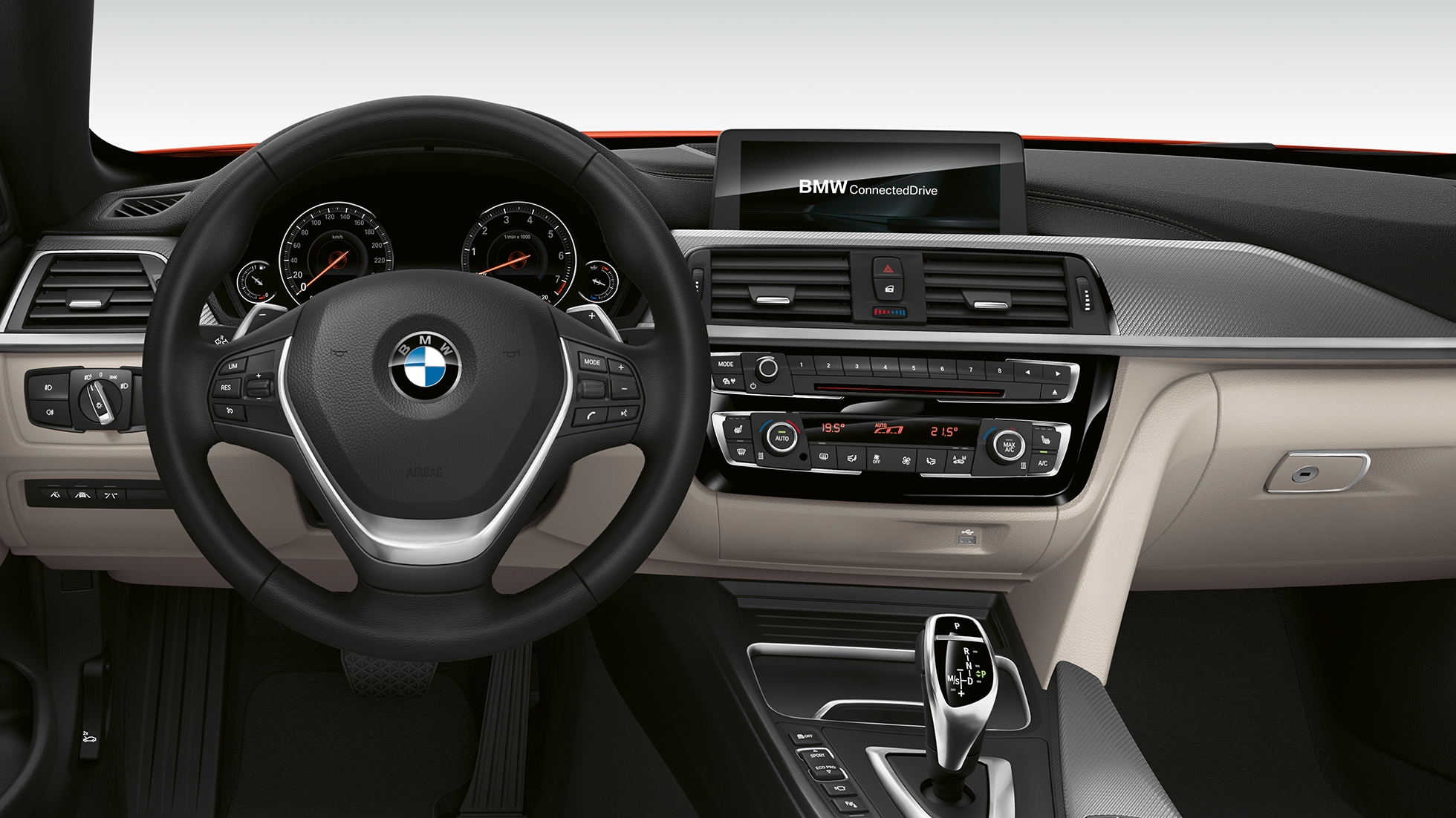 BMW Serie 4 Convertible, interior del Modelo Luxury Line